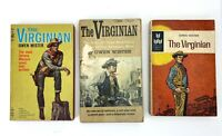 Lot of 3 Vintage Paperback Books - The Virginian by Owen Wister