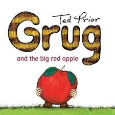 Grug and the Big Red Apple By Ted Prior Paperback Free Shipping