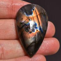 58cts,40x27x5mm Pyrite Plume Cabochon Pyrite Plume Loose gemstone Natural Handmade gemstone ZZ-4261
