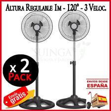 """VENTILADOR DE PIE 10"""" 45W 220V 3 VELOCIDADES OSCILACION ALTURA AJUSTABLE 1 M. X2"""