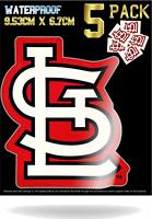 "5 St Saint Louis Cardinals Vinyl Decal Sticker 3"" x 4"" Car Window Bumper Laptop"