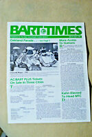 BART TIMES - March/April 1987 - More Access to Stations