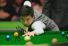 Ding Junhui Hand Signed 12x8 Photo - Snooker Autograph 2.