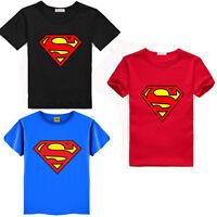 Cartoon Kids Baby Boys Superman T-Shirt Children Short Sleeve Tees Costume Tops