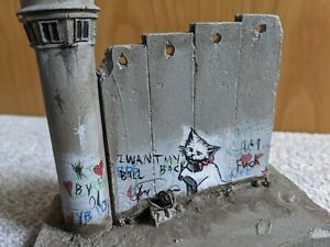 Banksy - Rare 5 piece defeated wall section - Walled Off Hotel sculpture