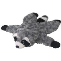 """19"""" Petlou Flat Raccoon Dog Toy"""
