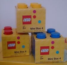 Lego Mini Box Set Of 3 Red/Yellow/Blue  **BNIB**