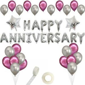 Happy Anniversary Balloons Quality Strong Chrome Balloons Free 1st Class Del