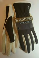 Isotoner Women's Brown w/ Ivory Stretch Gloves One Size