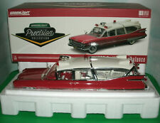 1/18 Scale 1959 Cadillac Superior Ambulance Diecast Model Greenlight PC18001 Red