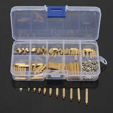 270Pcs M2 3-25mm Male to Female Brass PCB Standoff Screw Nut Kit Set #N2027- QL