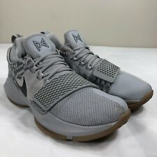 reputable site ab1be 129eb Nike PG 1 Basketball Shoes Men s 8 Paul George Grey Gum Zoom Air OKC Thunder