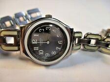 "Swatch ""White Chain"" ladies AG 2009 Swiss watch fresh battery runs~looks great"