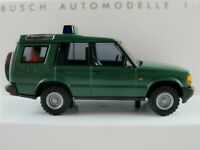 """Busch 51925 Land Rover Discovery (1998) """"Zoll"""" in dunkelgrün 1:87/H0 NEU/OVP"""