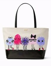 NWT KATE SPADE IMAGINATION Monsters Francis Zip Tote