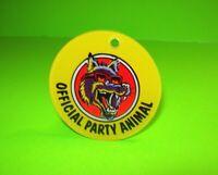 Party Zone Original Bally NOS 1991 Pinball Machine Plastic Promo Keychain Wolf