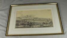 E. Emminger - Weingarten - Lithographie ~1860 im Waschgoldrahmen- 53x36 cm /H4