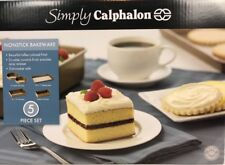 Simply Calphalon Non-stick Bakeware Set 5 Piece Round Cake Baking Sheet Loaf Pan