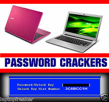Acer unlock key hint number password unlock sistema contraseña borrar admin