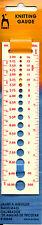 Pony knitting needle gauge # 60644 needle sizer US UK and Metric needles