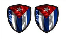 Cuban flag Cuba  Waving Flag Shield 3d Gel Decal