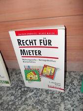 Recht für Mieter, von Rainer Endriss & Klaus Malek, aus dem Walhalla Verlag,2002