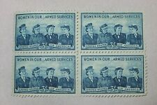 $0.03 Cents Women in our Armed Forces Stamps Plate Block of 4
