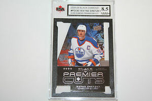 Wayne Gretzky 2008-09 Quad Black Diamond Die-Cut Hockey Card KSA Graded 8.5!!!