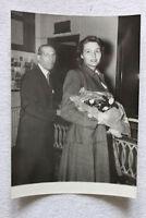 Foto d'epoca - l'attrice Patricia Neal a Roma ottobre 1954