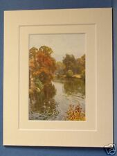 THE RIVER DEE AT EATON CHESTER VINTAGE DOUBLE MOUNTED HASLEHUST PRINT 10X8 RARE