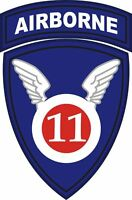 """11th Airborne Division Patch 5.5"""" Sticker 'Officially Licensed'"""