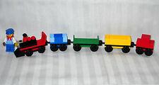 NEW LEGO CUSTOM MINI TRAIN: ENGINE + 4 CARS & ENGINEER MINIFIGURE
