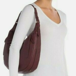 LUCKY BRAND $168 MSRP Purse Leather EBON HOBO Congac Brown or Sugar Red Bags NWT