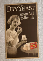 """Vintage 1921 Booklet """"Dry Yeast as an Aid to Health"""" Northwestern Yeast Co. Foam"""