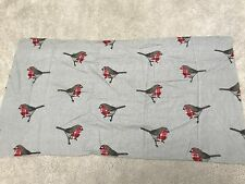 Skulls  grey  white craft sewing material remnant fabric piece 70x45cm