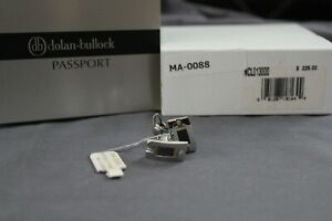 Dolan Bullock Passport Cufflinks Stainless Steel Titanium Gold Diamond NWT