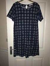 Adini 100/% Viscose crincle rayon crepe dress short sleeve V neck button top S