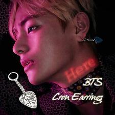 BTS Style Bangtan Boys V Cron Earring KPOP Syle Made In Korea Hot Item 1Piece