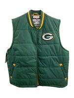NWT Mitchell & Ness Green Bay Packers Green Puffer Vest Mens 3XL Throwback NFL