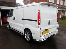 To Fit 02 - 14 Renault Trafic Stainless Steel Rear Corner Back Nudge Bumper Bars