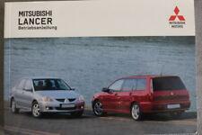 """Mitsubishi Lancer 7 """"CSO""""  Bedienungsanleitung """"2003""""  Betriebsanleitung"""