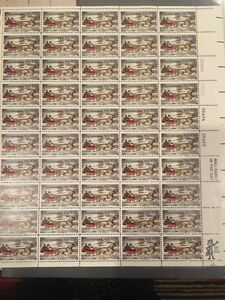 1551a .10 Christmas Currier And Ives. Buff Omitted. Sheet Of 50