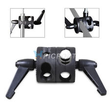 New Universal two-wheel Light Stand Double Dual Grip Clamp