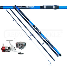 14 FT 4PC BEACHCASTER ROD AND BEACH REEL COMBO SEA FISHING TACKLE