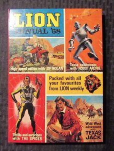 1968 LION UK ANNUAL Hardcover VF Robot Archie - Robin Hood - Zip Nolan