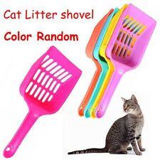Random Solid Kitten Sand Cleaner Food Spoon Hollow Plastic Cat Litter Shovel