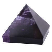 Amethyst Crystal Healing Orgone Pyramid Quartz Clear Crystal Pyramid Purple IS