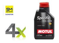 4x MOTUL OLIO SPECIFIC 505 01 502 00 5W-40 C3 LUBRIFICANTE MOTORE VW FORD 4 LT