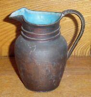 Antique Chinese Export Metal Bronze Creamer Pitcher EW Sailboat China Enamel Int