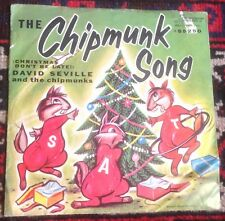 DAVID SEVILLE and THE CHIPMUNKS the chipmunk song*alvin's harmonica 1959 US PS